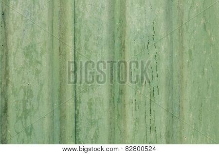 Green tin wall suface
