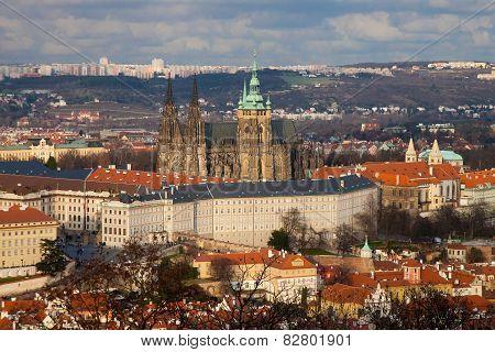 Bird Eye View Of Hradchany, Prague