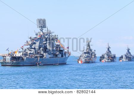 Ships of Russian Navy Black Sea Fleet