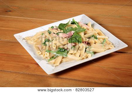 Fresh Pasta With Bacon