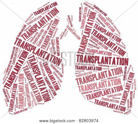 Lung Transplantation. Word Cloud Illustration.