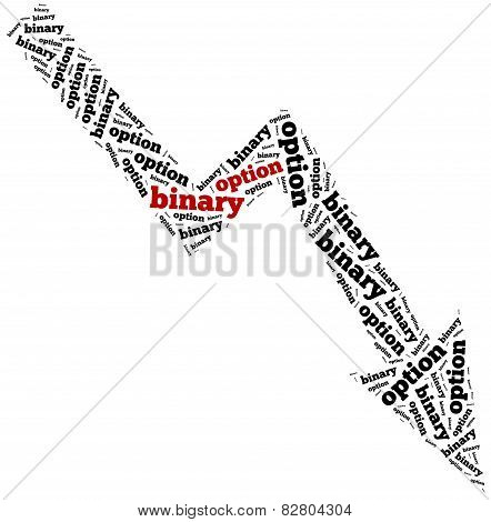 Word Cloud Illustration Related To Binary Option Drop.