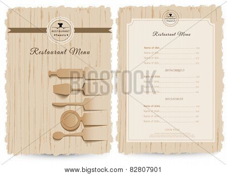 Restaurant Menu Template.vector