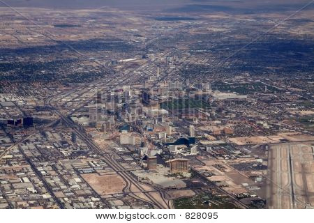 aerial map of las vegas strip