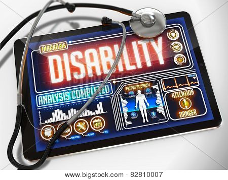 Disability on the Display of Medical Tablet.