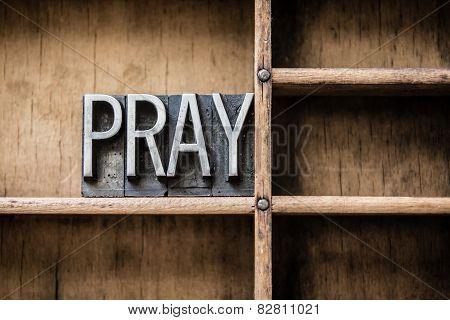 Pray Letterpress Concept
