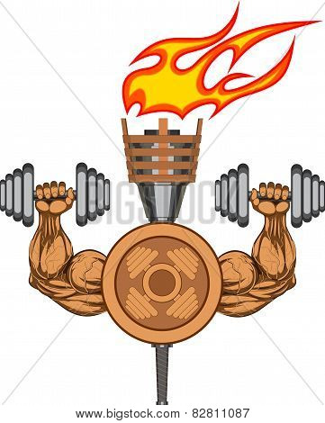 Symbol of bodybuilding