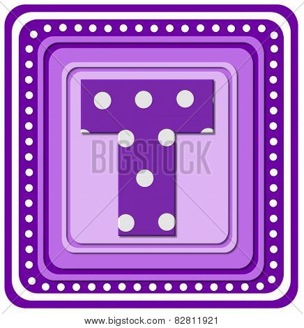 Alphabet Purple Square T