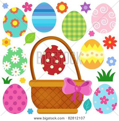 Easter eggs thematic image 1 - eps10 vector illustration.