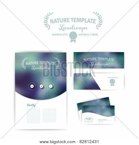 Vector corporate identity. Abstract backdrop. banner design temp