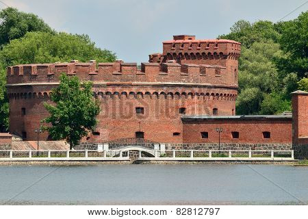 Defensive Tower Der Dohna. Kaliningrad (formerly Koenigsberg), Russia