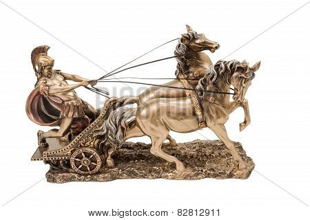 Greek Warrior On Chariot