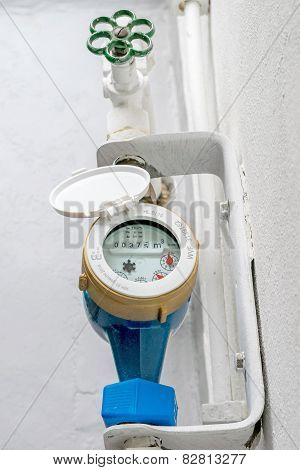 Household Water Meter and Stopcock