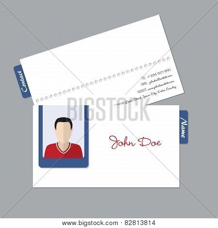 Simple Business Id Card With Photo