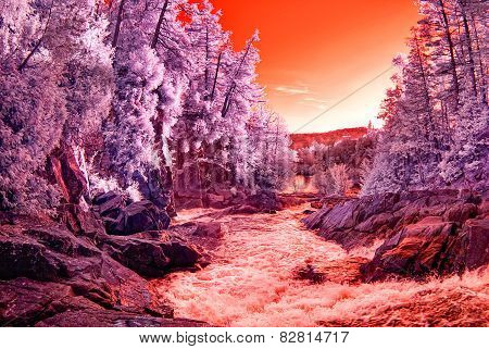 Infrared Water Rapids