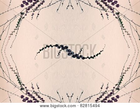 Grape Leaves Border Design