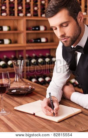 Making Notes About Wine.