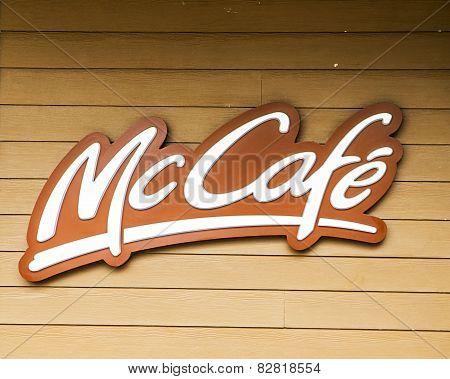 Close Up Of A Mccafe Sign