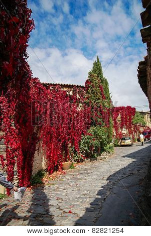 Autumn At Patones De Arriba, Comunidad De Madrid, Spain
