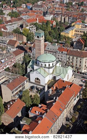 ZAGREB, CROATIA - OCTOBER 14: Church of Saint Blaisn in Zagreb on October 14, 2007 Zagreb, Croatia.