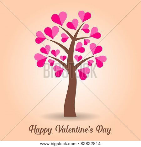 Valentine Card With Tree