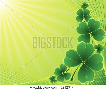 clover background for the St. Patrick