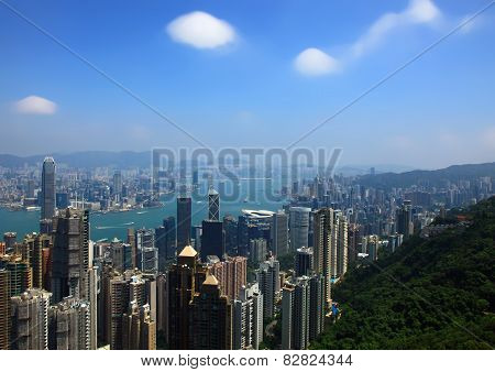 Hong Kong, View From The Victoria Peak.