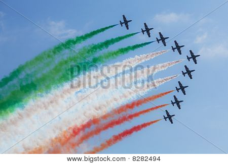 Famous Italian Flying Team Frecce Tricolori