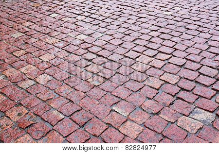 Cobblestones Of Red Granite