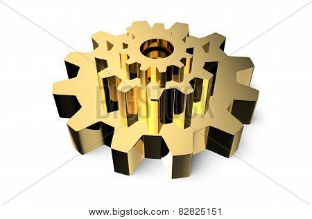 Golden Gearwheel