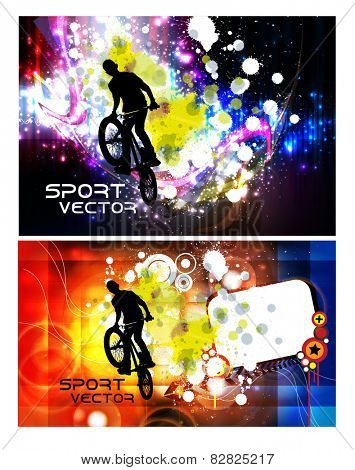 BMX sport vector illustration