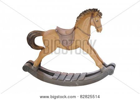 decorative rocking horse isolated under the white background