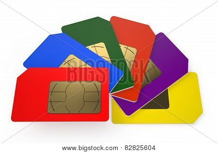 Group Of Color Sim Cards 7