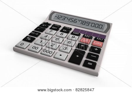 Electronic White  Calculator