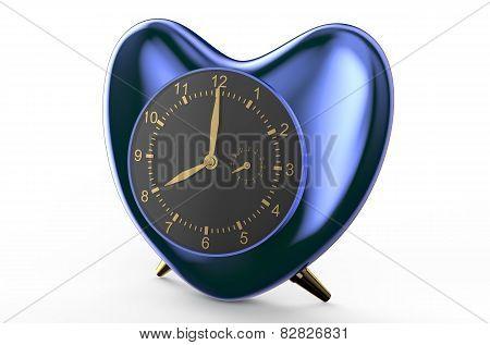 Square Blue Alarm Clock