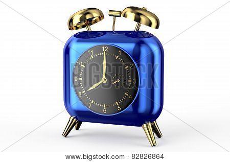 blue square clock