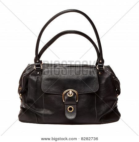 Black Women Bag Isolated