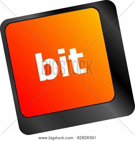 Bit Enter Button On Computer Pc Keyboard Key