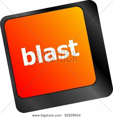 Blast Button On Computer Pc Keyboard Key