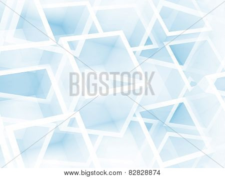 Abstract Digital 3D Background With Chaotic Cubes Pattern