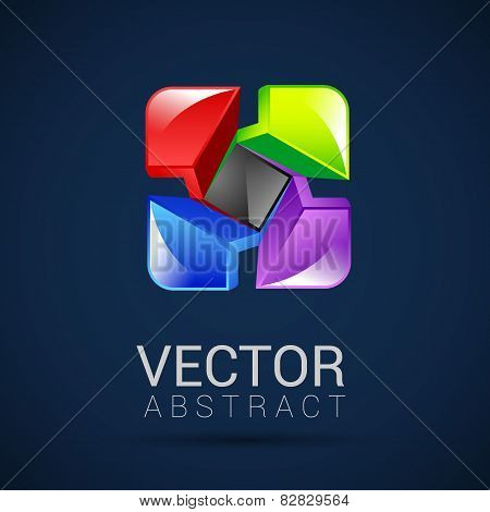 abstract vector logo design template abstract isolated corporate concept