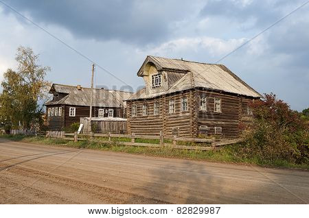 Street In The Northern Russian Village