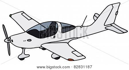 Small propeller airplane