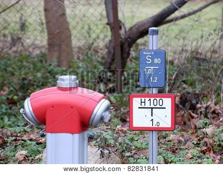 Fire Hydrant With Sign