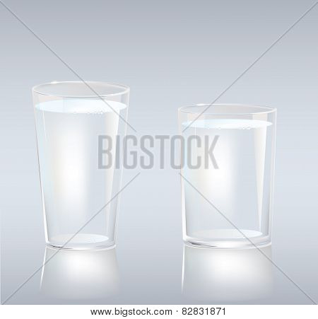 Cups of water