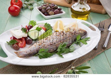 Roasted Seabass