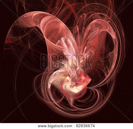 Beautiful Plasmatic Pattern In Pink Spectrum