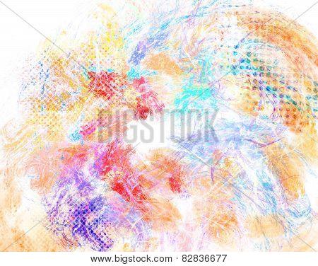 Mixed Media Texture, Grunge Halftone Background