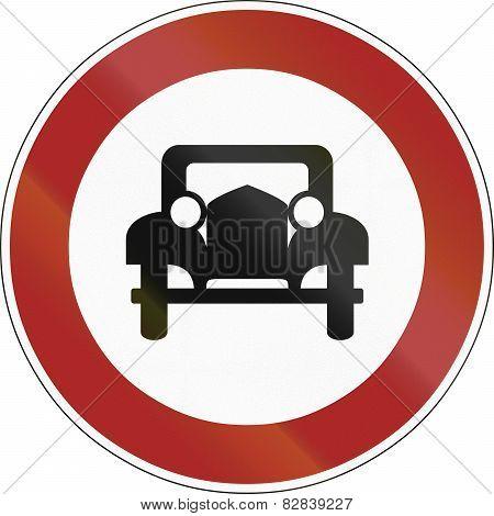 No Cars 1956