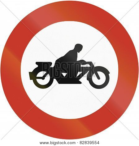 No Motorcycles 1937